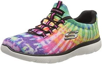 Skechers Women's Summits-Looking Groovy Sneaker, Black/Multi, 8 M US