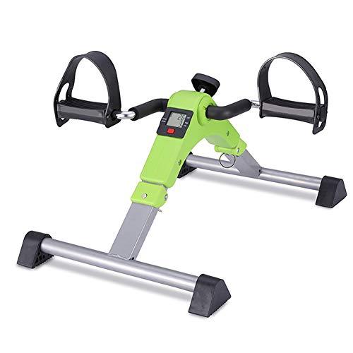 LSSLA Kleiner Pedaltrainer LCD-Fußpedaltrainer Klappbares Heimtrainer Fitnessstudio Fitness Bein Und Herz Training Männer Und Frauen Verstellbare Pedal Pedal Trainer