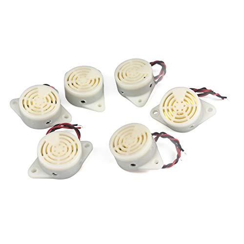 Taikuwu 6 Stück Elektronischer Summer, DC 3-24V Buzzer Alarm Piezo Sounder Intermitent Sound Intermitent Piepton