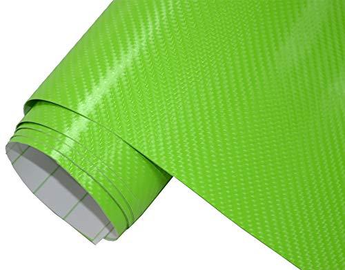 5€/m² Auto Folie - 4D Carbon grün 200 x 150 cm - selbstklebend BLASENFREI flexibel Car Wrapping Klebefolie folieren