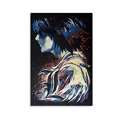 GUCII Póster decorativo de Anime Death Note para la pared del salón, póster para el dormitorio, 30 x 45 cm