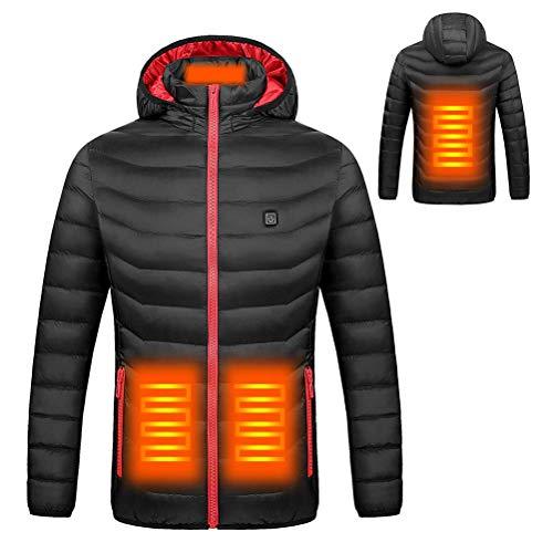 KSRTNX Hombre Chaquetas de algodón Gruesas de Invierno con calefacción de Invierno Cazadoras Impermeables al Aire Libre Senderismo Camping Trekking Escalada en Roca Abrigos de Invierno para (S)
