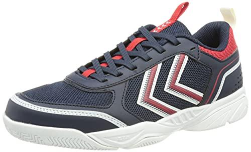 hummel Unisex Aero Team 2.0 Handball Shoe, Black Iris, 38.5 EU