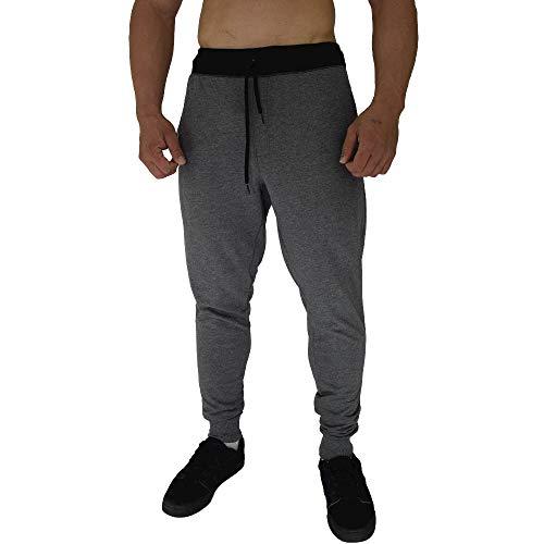 Calça Masculina Moletom Slim MXD Conceito Mescla Escuro Clássico (M)