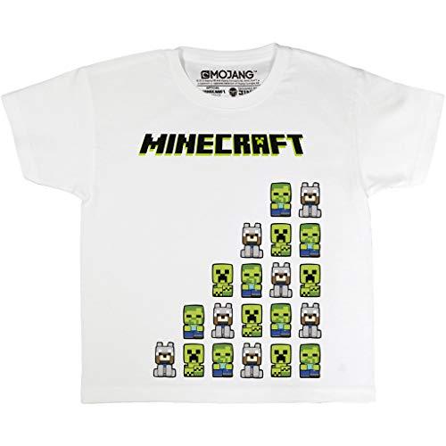 Minecraft Mis Amigos Camiseta de Las Muchachas Blanco 128 | PS4 PS5 Xbox PC Gamer Interruptor de Regalos, Tween School Girls Juego Top, Ropa para niños, Idea del Regalo de cumpleaños de los niños