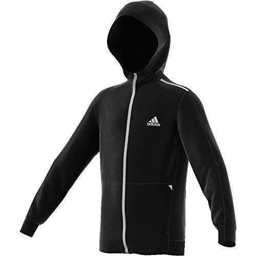 adidas Jungen Spacer Kapuzenjacke, Black/White, 152