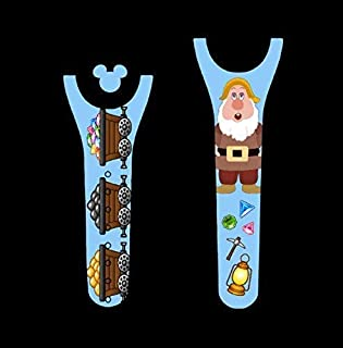 Vinyl Skin Decal Wrap Sticker Cover for the MagicBand 2 Magic Band 2 Dwarfs Sneezing Mining Themed