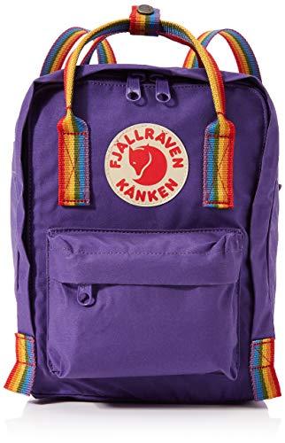 FJALLRAVEN Kånken Mini Mochila, Unisex Adulto, (Purple/Rainbow Pattern), Talla Única