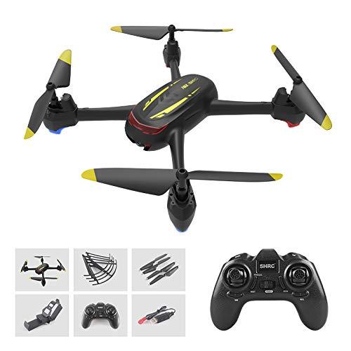 SHRC GPS Drohne Mit 1080P HD Kamera, 500M Reichweite,Follow-Me,App-Steuerung,13 Minuten Flugzeit,One Key Start/Landung,Höhe-Halten,RC Quadrocopter Für Anfänger,Schwarz