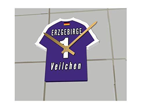 FanPlastic 2. Bundesliga Deutschland FUßBALL Shirt Uhren - 2. Bundesliga Fußball, JEDER Name & Jede Nummer - NEUES ACRYL Shirt Design !!! (Erzgebirge AUE)