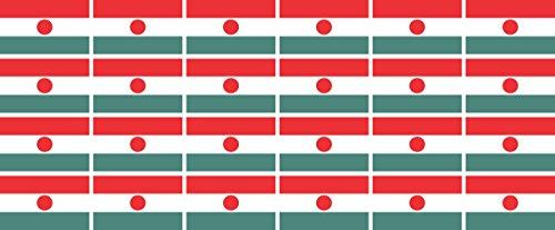 Mini Aufkleber Set - Pack glatt - 33x20mm - Sticker - Niger - Flagge - Banner - Standarte fürs Auto, Büro, zu Hause & die Schule - 24 Stück