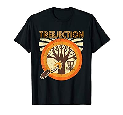 Treejection Funny Disc Golf Frisbee T Shirt for Men or Women