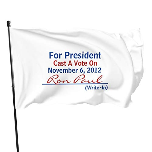Generic Brands - Banderas de Ron Paul 2012 con texto en inglés