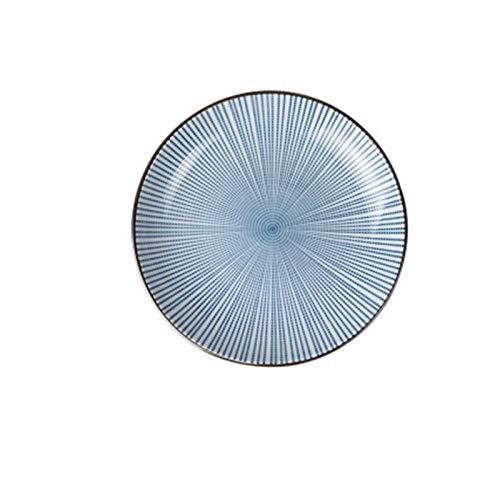 JSJJARD Plato de Cena Estilo Tradicional japonés de cerámica Placas de Cena del vajilla de Porcelana Platos Placa platillo Plato de arroz del Sushi Noddle Vajillas (Color : A, Plate Size : 3 Inch)