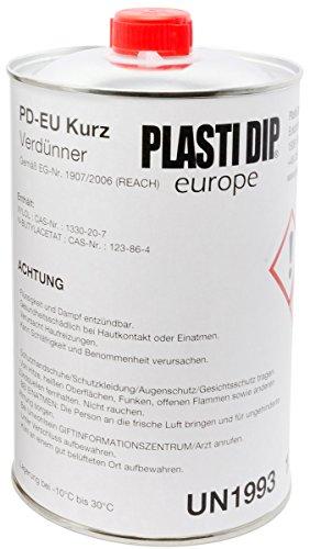 Plasti Dip Verdünner 1L schnell ablüftend - empfohlen für Original Performix Plasti Dip USA