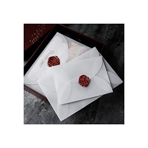 40 stks/partij semi transparante zwavelzuur papier enveloppen voor DIY ansichtkaart/kaart opslag, bruiloft uitnodiging, gift verpakking 125mmX125mm