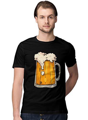 BLAK TEE Hombre Cool Beer Mug Camiseta
