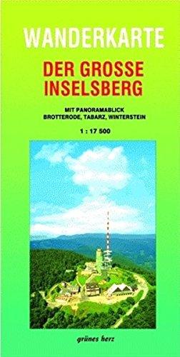 Wanderkarte Der große Inselsberg: Mit Panoramablick. Mit Brotterode, Tabarz, Winterstein. Maßstab 1:17.500.