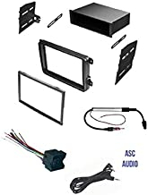ASC Car Stereo Radio Dash Kit, Wire Harness, and Antenna Adapter for VW Volkswagen: 2012-2015 Beetle, 09-14 CC, 07-14 Eos, 10-14 Golf, 06-14 GTI, 06-15 Jetta, 06-14 Passat, 06-09 Rabbit, 09-14 Tiguan