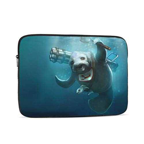 Sea Lions Seal Underwater Painting Laptop Sleeve 12 inch, Shock Resistant Notebook Briefcase, Computer Protective Bag, Tablet Carrying Case for MacBook Pro/MacBook Air/Asus/Dell/Lenovo/Hp/Samsung/Sony