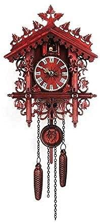 Orologio a cucù in legno, orologio a cucù a mano a mano, vintage cuculo orologio da parete casa appendere cuculo orologio da parete per camera da letto soggiorno scolastico decorazione ufficio 1 pz
