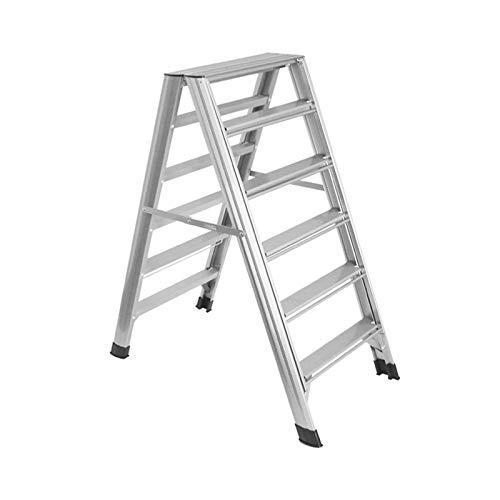 Aiaoi Tendedero, Tendedero Plegable Aleación De Aluminio Multifunción Escalera De Seis Escalones, Oro (Color : Silver, Size : Six Steps)