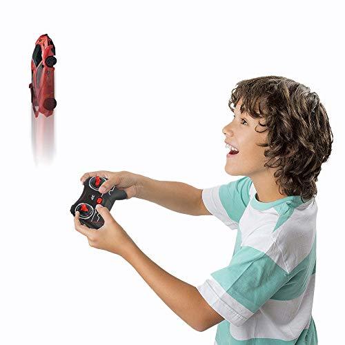SGILE Ferngesteuert Auto, RC Kletterwandwagen Fahrzeug, Wand Klettern Spielzeugauto für Kinder mit aktualisiert Mini Fernbedienung, USB Ladung, LED Flashing, 360° Rotation, Racer für Chirstmas