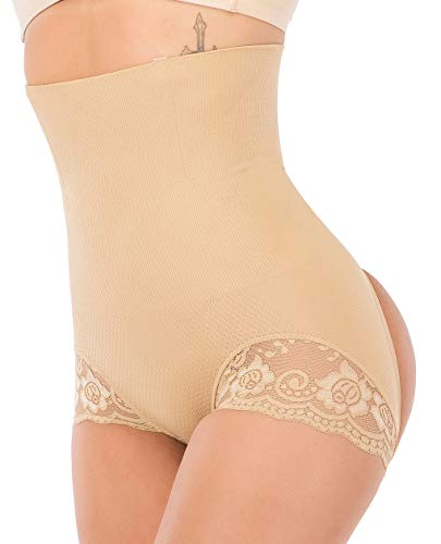 SAYFUT Womens Butt Lifter Shaper Seamless Tummy Control Hi-Waist Thigh Slimmer