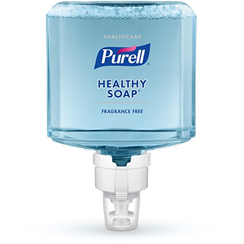 PURELL Healthcare HEALTHY SOAP Gentle and Free Foam, Fragrance Free, 1200 mL Hand Soap Refill for PURELL ES8 Touch-Free Dispenser (Pack of 2) - 7772-02