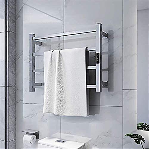 Radiador de riel de toallas con calefacción, estante de toalla de toalla de toalla de toalla de toalla de diseño eléctrico Rátil de toalla recta Radiador calentado Cuarto de baño Calentador de secado