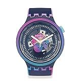 Swatch Rainbowinthenight Reloj de cuarzo azul esqueleto para hombre SO27N112