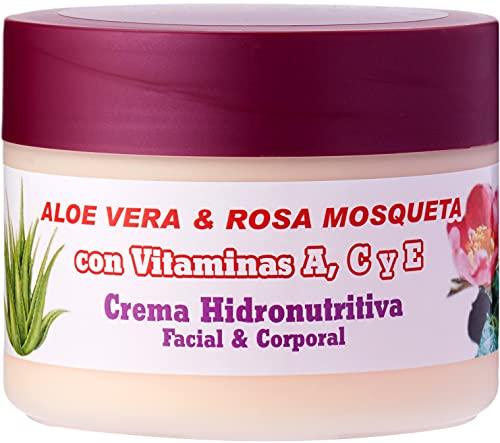Bionatural 11320 - Crema hidronutritiva facial y corporal con aloe, rosa mosqueta y vitaminas, 250 ml