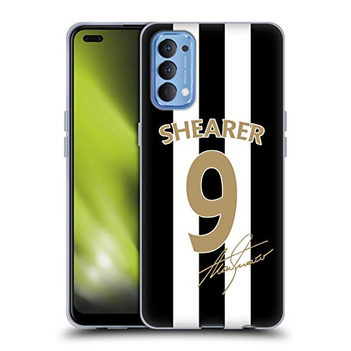 Head Case Designs Officially Licensed Newcastle United FC NUFC Alan Shearer Signed Gold Jersey Retro Badge Collection Soft Gel Case Compatible with Oppo Reno 4 5G