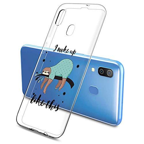 Oihxse Funda Samsung Galaxy A7 2018/A750, Ultra Delgado Transparente TPU Silicona Case Suave Claro Elegante Creativa Patrón Bumper Carcasa Anti-Arañazos Anti-Choque Protección Caso Cover (A16)