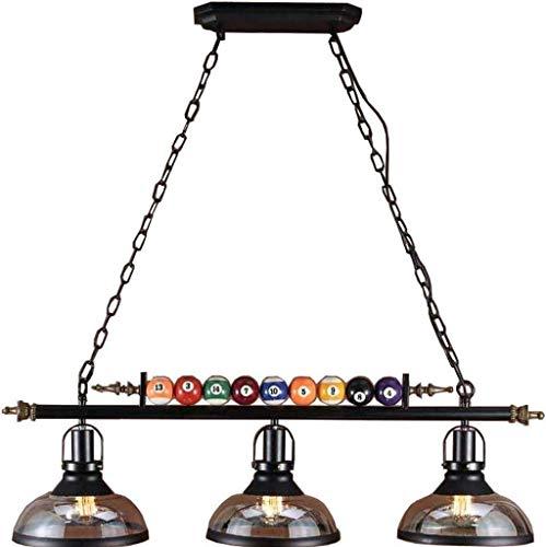 Luminaire suspendu, lustre à 3 lumières de décor de billard, barre industrielle rétro au...