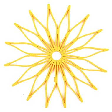 Spice Ratchet Blossom Multi-Purpose Silicone Trivet, Yellow
