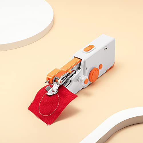 Yeahloop Handheld Sewing Machine,Mini Portable Handle Sewing Machine with Sewing Kit, Quick Stitch Tool for Fabric Clothing Kids Cloth Pet Clothes