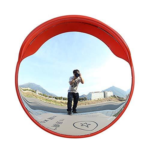 Jian E Sicherheitsspiegel Verkehr im Freien Weitwinkelobjektiv Straße Weitwinkelobjektiv Konvexer Kugelspiegel Eckiger gebogener Spiegel Konvexer Spiegel Diebstahlsicherer Spiegel //-