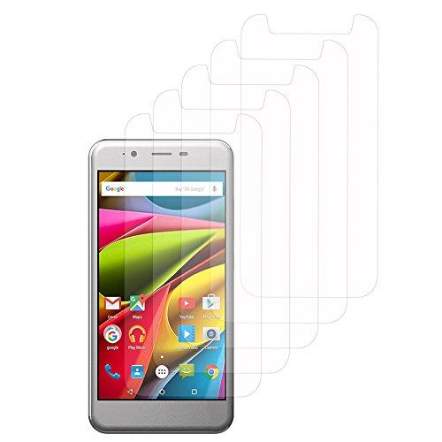 VComp-Shop® 5X Transparente Bildschirmschutzfolie für Archos 50 Cobalt 5.0