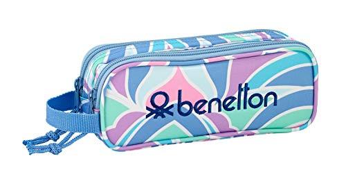 """Benetton """"Arcobaleno"""" Oficial Estuche Escolar 210x60x80mm"""