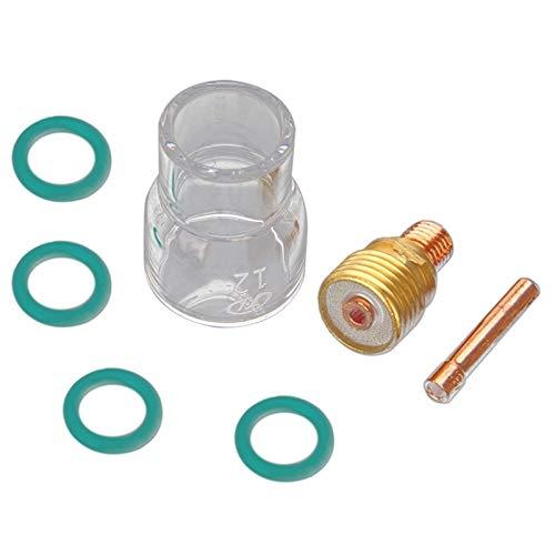 Antorcha de soldadura portátil, antorcha de soldadura, juego #12, kit de copa de vidrio Pyrex para Wp-9/20/25 Mayitr (diámetro de la carga: 2,4 mm)