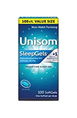 INCLUDES: One (1) bottle with 100 SoftGels of Unisom SleepGels Nighttime Sleep-aid; one SoftGel per dose A STRESSFUL DAY DESERVES A RESTFUL NIGHT: Unisom helps you fall asleep fast and get a good night's sleep to recharge and restore NON-HABIT FORMIN...