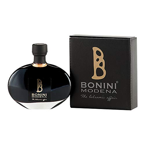 Bonini 50 years old private riserva condimento balsamico extra-old of Modena 100% grape must, vinegar free, unique flavor, small-batch, solera method aging, 100 ml / 3.38 oz
