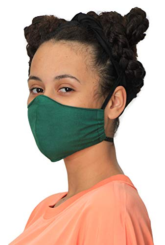 Teenage Tween 8 yrs / 16 yrs Green Fitted Face Mask Face Covering Quality UK British Made Back To School