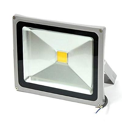 GLW LED Flood Light 100 - 240V AC Outdoor Lamp IP65 WARM WHITE 3000K SILVER