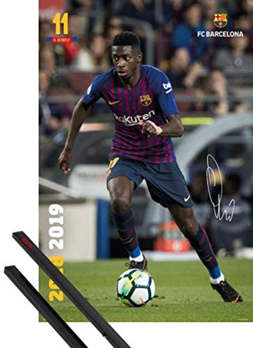 1art1 Fútbol Póster (91x61 cm) FC Barcelona 2018/2019, Ousmane Dembele Acción Y...