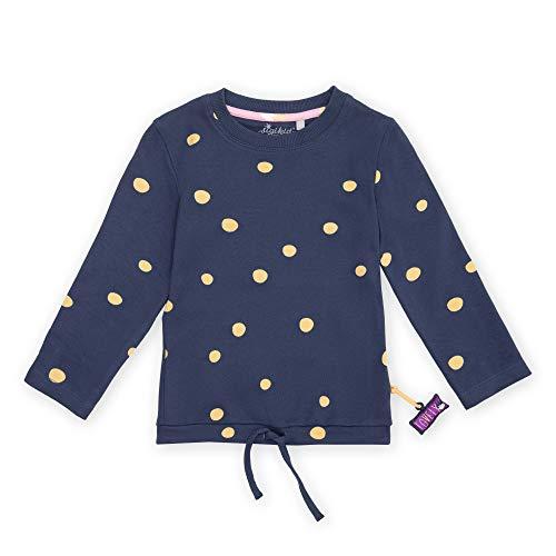 Sigikid Baby-Mädchen Mini Langarmshirt aus Bio-Baumwolle, Größe 098-128 Pullover, Blau/Punkte, 98
