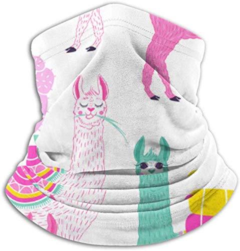 Fleece Neck Warmer Xff0C; multifunctionele Sweet Llama Alpaca Cactus sjaal een volledig gezicht of een muts een halsmanchet een halskap