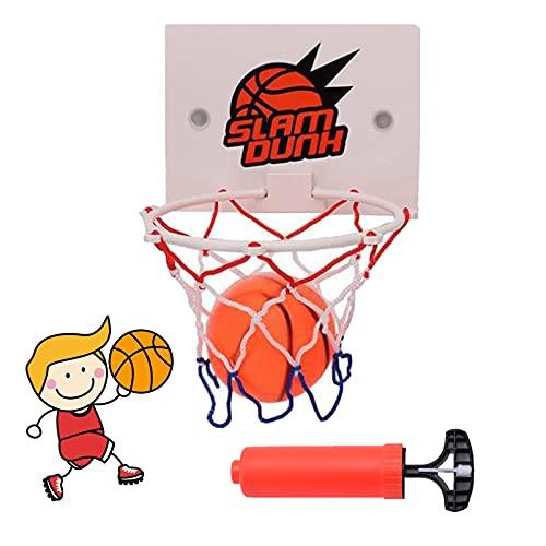 Mini Tablero De Baloncesto Canasta Baloncesto Baloncesto Infantil Portátiles Juguetes Juego De Aro De Baloncesto Canasta De Baloncesto De Pared con Ventosa, Mini Baloncesto Y Bomba De Aire