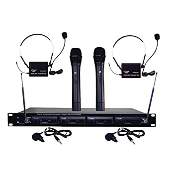 Pyle Pro Pdwm4300 4-Microphone Vhf Wireless Rack-Mount Microphone System 20.90in x 12.20in x 5.10in.